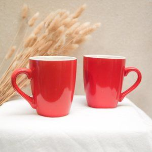 Holiday Red Mugs
